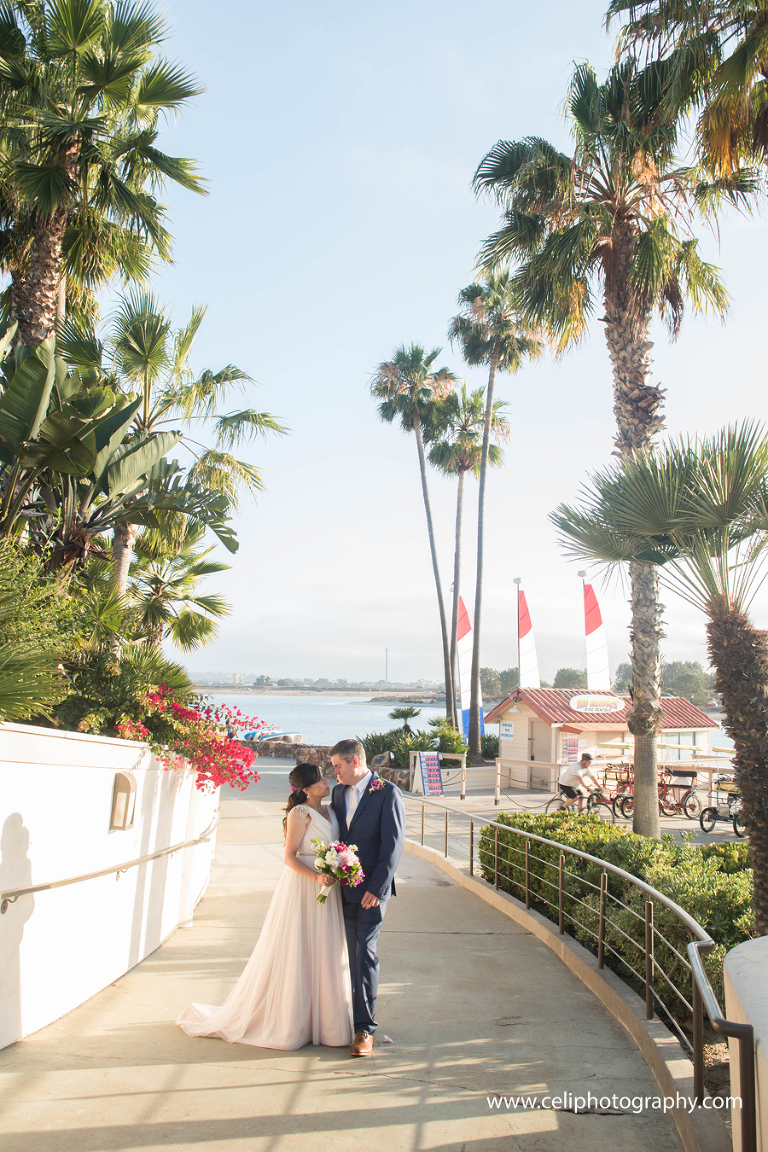 Mission Bay Resort and Span wedding photography